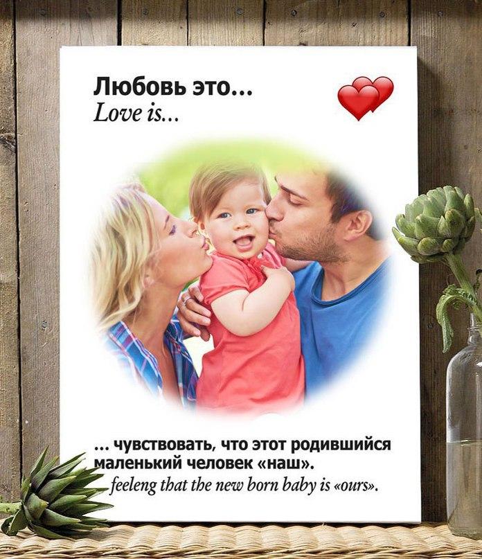 Изготовление фотокартин в стиле «Love is…»